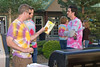 Keith, Kevin and Adam preparing to bar-b-que dinner.