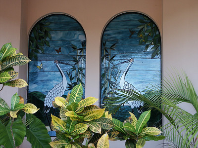 Close-up of stained windows at villa   (Dec 28, 2002, 02:49pm)