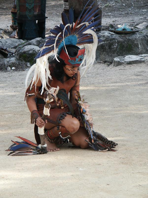 <b>Close up of woman at Mayan show</b>   (Dec 29, 2002, 03:30pm)