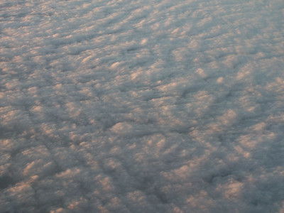 Sunset on clouds seen from airplane   (Jan 01, 2003, 04:53pm)
