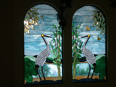 Villa's stained glass windows from the inside   (Dec 31, 2002, 04:56pm)