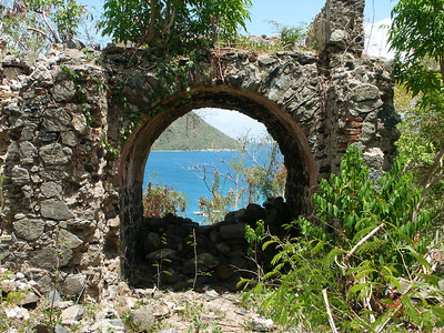 Leinster Bay seen through the ruins of an arch   (Jul 01, 2002, 11:31am)