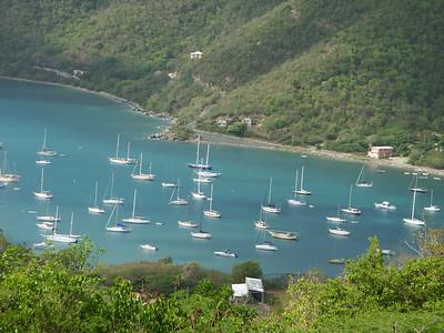 Sailboats in Coral Harbor in St John   (Jul 01, 2002, 09:05am)