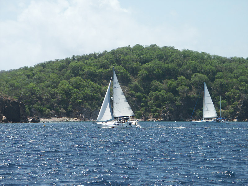 <b>Sailboats passing Norman Island</b>   (Jul 02, 2002, 10:32am)