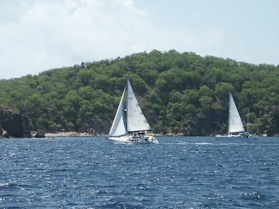 Sailboats passing Norman Island   (Jul 02, 2002, 10:32am)