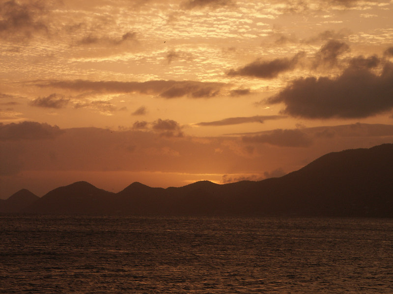 <b>Sunset seen over Tortola's west end</b>   (Jul 02, 2002, 06:51pm)