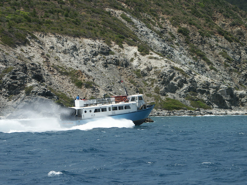 <b>Virgin Gorda ferry passing by east Tortola</b>   (Jul 04, 2002, 01:47pm)