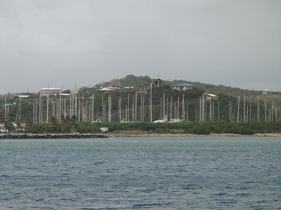 Forest of masts and Church of Ursula, Spanish Town   (Jul 04, 2002, 09:53am)