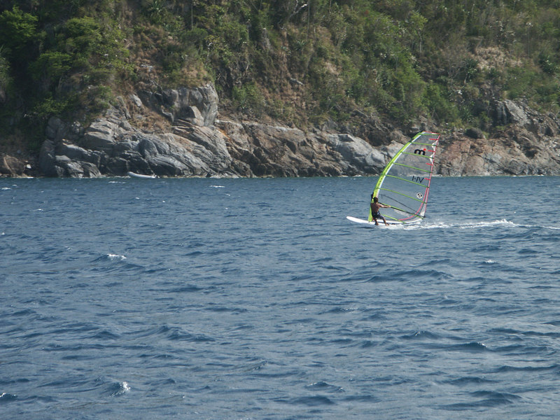 <b>Close up of a windsurfer off Mary Point</b>   (Jul 04, 2002, 03:59pm)