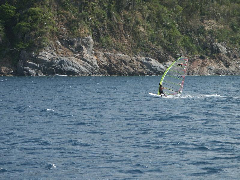 <b>Close up of a windsurfer off Mary Point</b>   (Jul 04, 2002, 03:59pm)