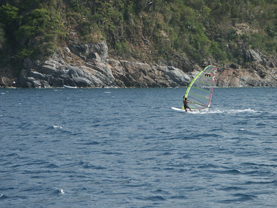 Close up of a windsurfer off Mary Point   (Jul 04, 2002, 03:59pm)