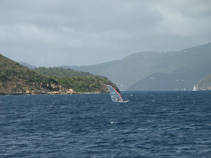 <b>Windsurfer crosses the narrows towards St. John</b>   (Jul 04, 2002, 03:58pm)