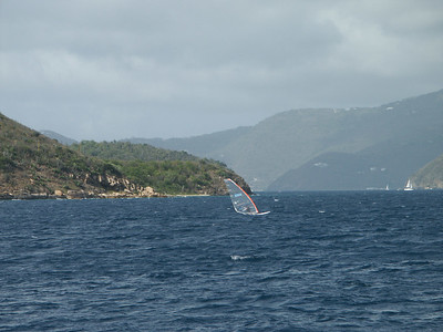 Windsurfer crosses the narrows towards St. John   (Jul 04, 2002, 03:58pm)