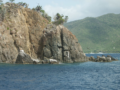 Rock cliffs near entrance to Cinnamon Bay   (Jul 04, 2002, 04:08pm)