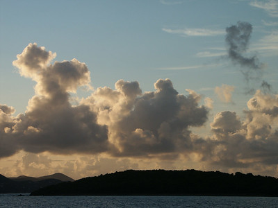 Early morning clouds in the Virgin Islands   (Jul 06, 2002, 06:10am)