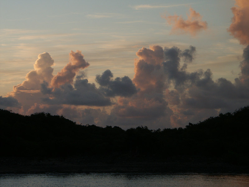 <b>Morning clouds over Great St. James Island</b>   (Jul 06, 2002, 05:55am)