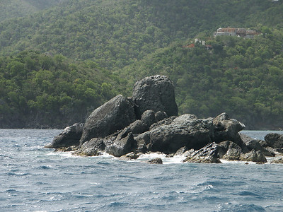 Rock formation on St. John north shore   (Jul 05, 2002, 09:32am)