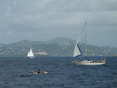 Contrast of three watercraft in front of St. Th   (Jul 05, 2002, 09:59am)