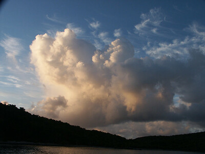Clouds in morning light over Great St. James Is   (Jul 06, 2002, 06:07am)