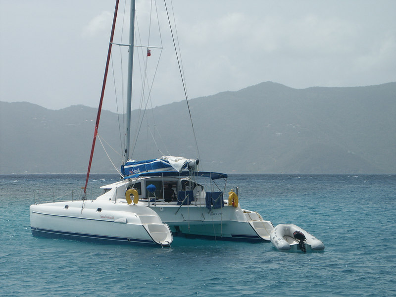 <b>Shaka Cat, a catamaran visiting Green Cay</b>   (Jun 30, 2002, 10:19am)