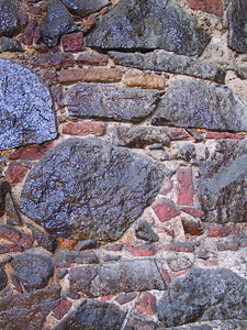 Close up of exterior stone wall of 1829 hotel   (Jun 29, 2002, 07:13am)