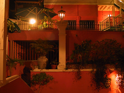 Inner courtyard of 1829 hotel at night   (Jun 28, 2002, 09:40pm)