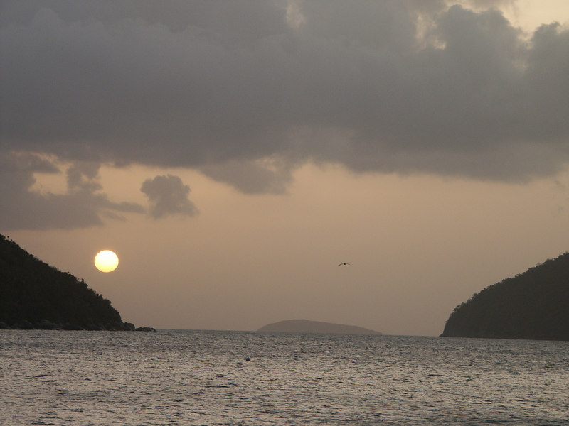 <b>Sunset seen from Waterlemon Bay</b>   (Jun 30, 2002, 06:48pm)