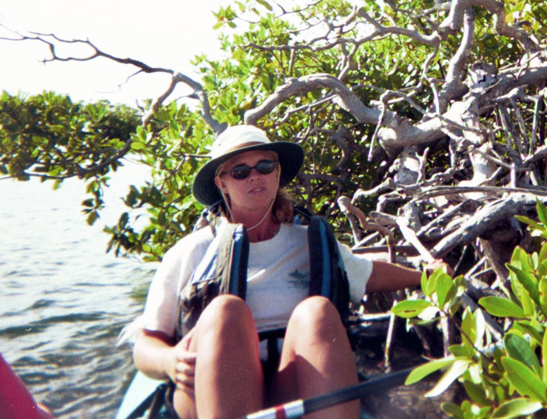 <b>Our Guide Next To Mangrove</b>   (Dec 25, 2000, 10:30am)