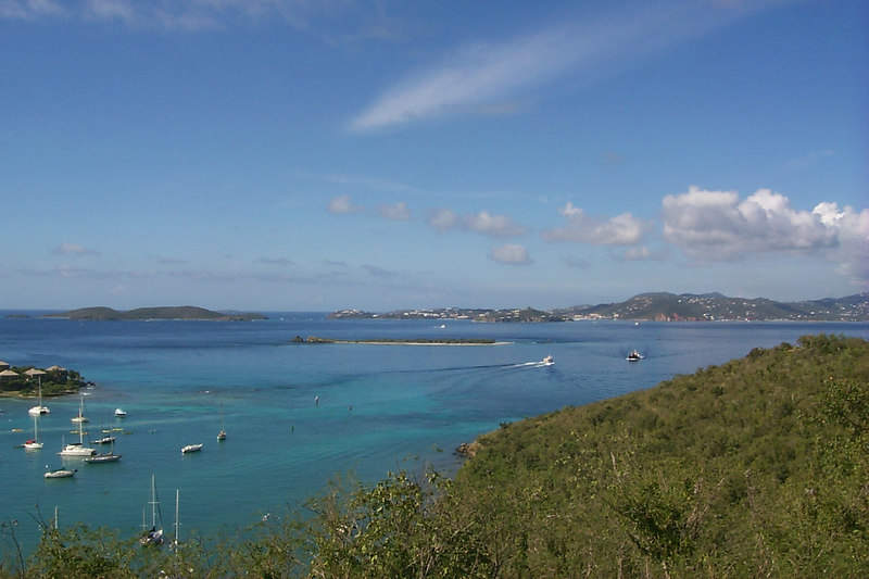 <b>Looking Back at St Thomas from St John</b>   (Dec 26, 2000, 09:53am)