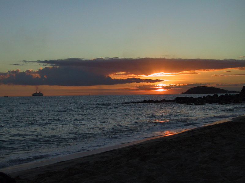 <b>Sunset from Beach</b>   (Dec 27, 2000, 05:46pm)