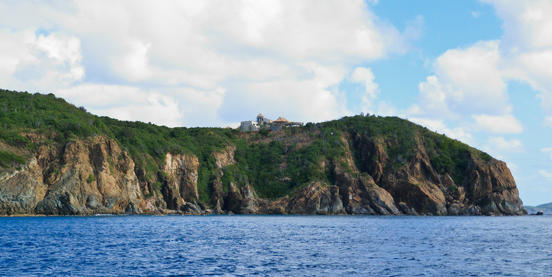 Solitary house on the point next to Lamshur Bay, St John