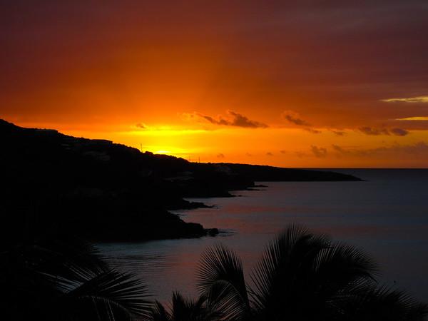 Sunrise over Frenchman Bay, St Thomas