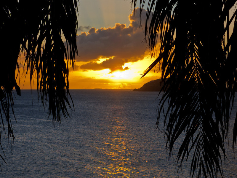 Sunset over Water Island, St Thomas