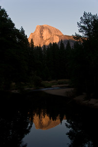 Half Dome at Sunset from Sentinel Bridge   (Sep 17, 2007, 05:49pm)