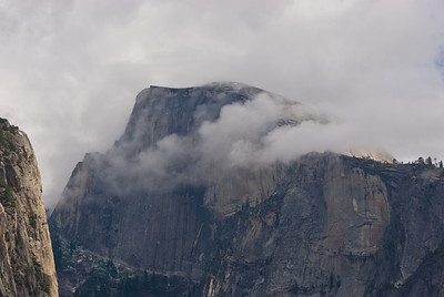 Clouds wrapping around Half Dome   (Sep 20, 2007, 12:38pm)