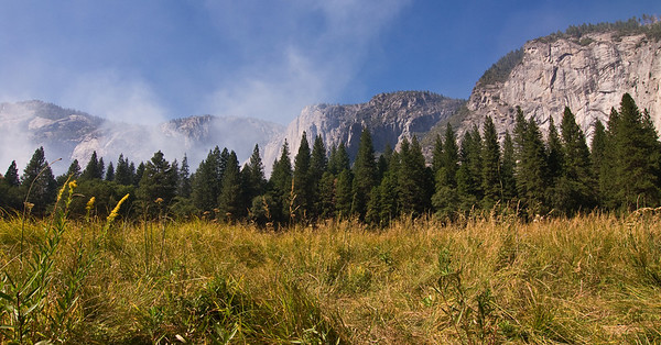 Meadow, trees and smoke in valley   (Sep 18, 2007, 01:16pm)