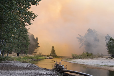 Merced River disappearing in cloud of smoke   (Sep 18, 2007, 04:29pm)