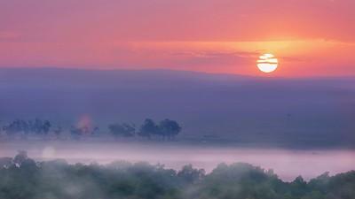 Sunrise over Kenya