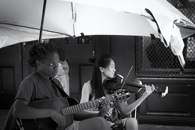 Musicians in the French Quarter.