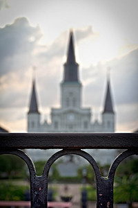 St. Louis Cathedral, in the distance.