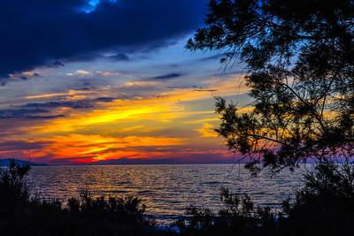 Sunset in Crete, Greece