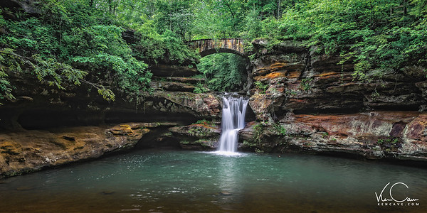 Upper Falls Old Man Cave Hocking Hills OH