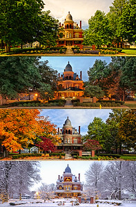 Seiberling Mansion Four Seasons