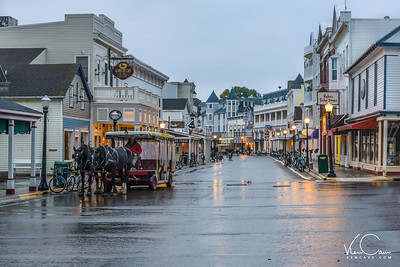 Taxi on Main Street Mackinac Island