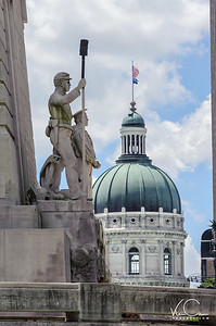 Soldiers and Saliors Monument with Capitol Building in Background