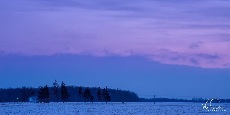 Midwestern Farmhouse in Winter