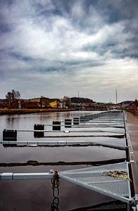 Empty marina at Uddevalla, Sweden