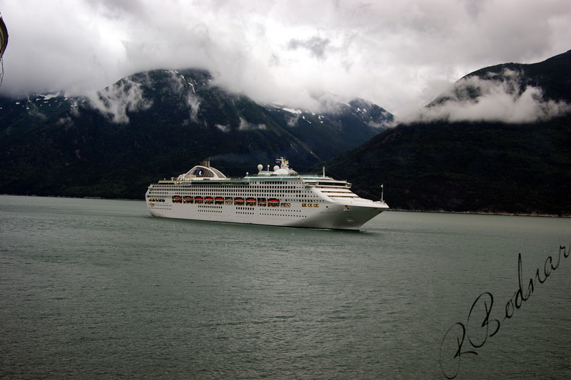 Photo By Robert Bodnar.....Cruise Ship coming in to Sagway Alaska