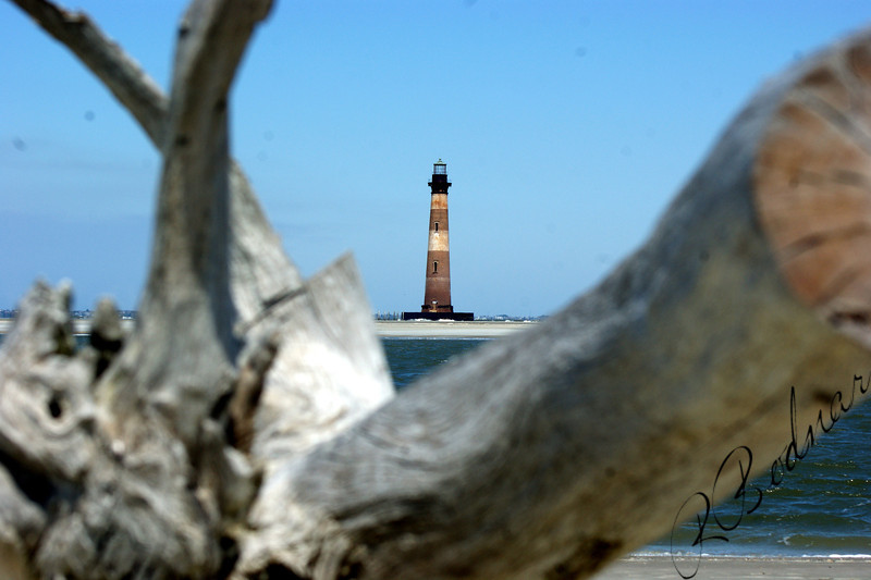 Photo By Robert Bodnar....................Folly Lighthouse, Folly Island, SC