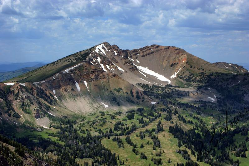Photo By Bob Bodnar........................View of MT. Jefferson  from Sawtelle Mountain Peak, Island Park, Idaho